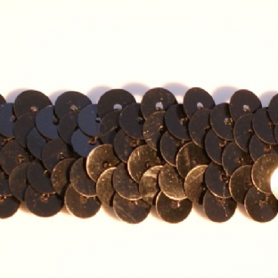CLEARANCE 20mm Glossy Black Stretch Sequin Braid.